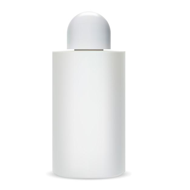 Shampoo-flasche. glas kosmetik paket. Premium Vektoren