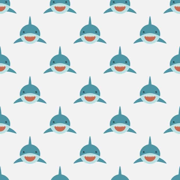Shark nahtlose muster Premium Vektoren