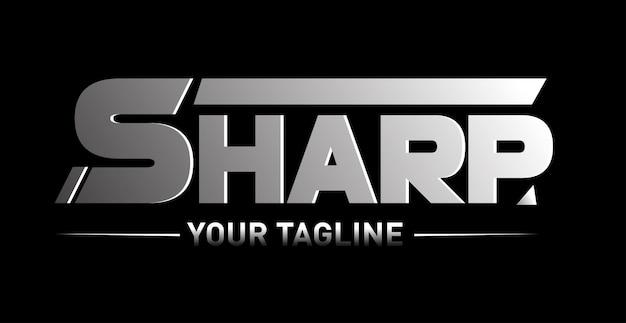 Sharp logo Premium Vektoren