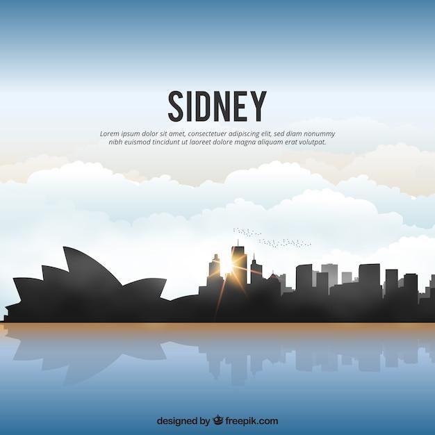 Shiny sydney skyline Kostenlosen Vektoren