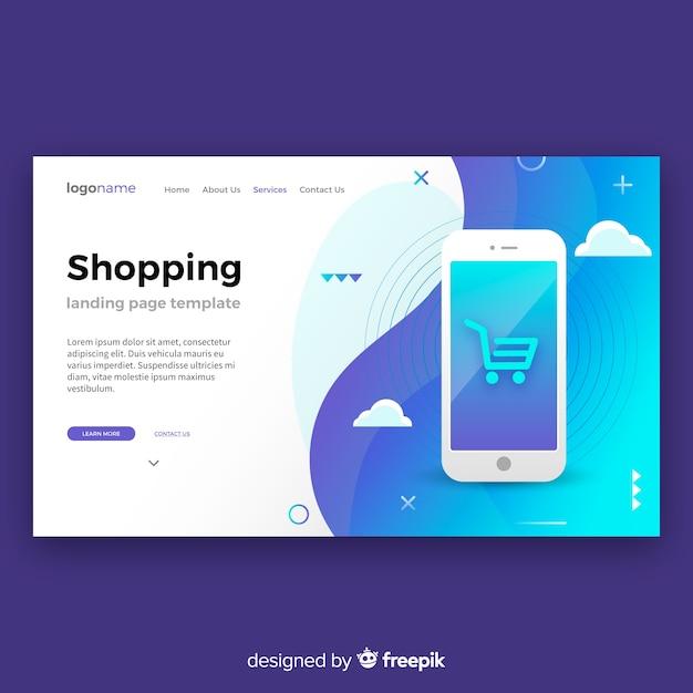 Shopping-landing-page Kostenlosen Vektoren