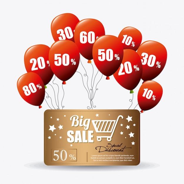 Shopping sonderangebote, rabatte und sonderaktionen Kostenlosen Vektoren