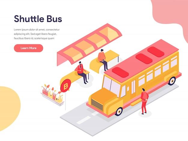 Shuttle bus illustration Premium Vektoren