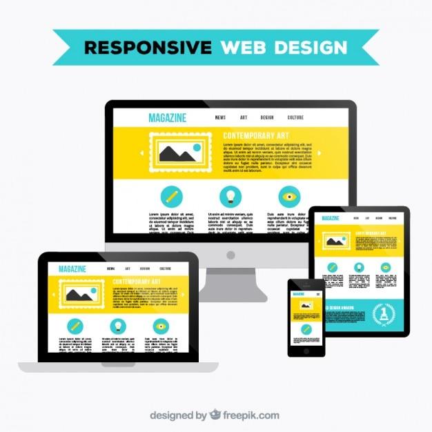 Sich anpassendes webdesign Kostenlosen Vektoren