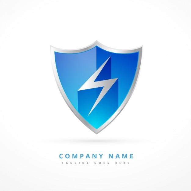 Sicherheit schild-logo Kostenlosen Vektoren