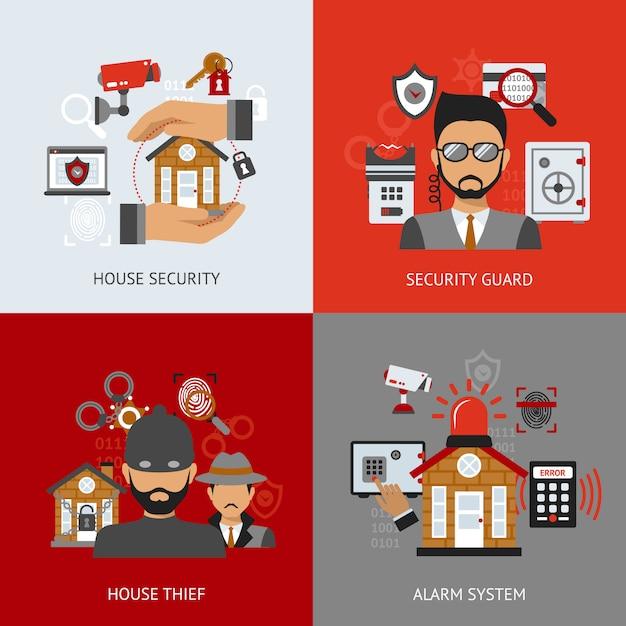 Sicherheits-design-konzept Kostenlosen Vektoren