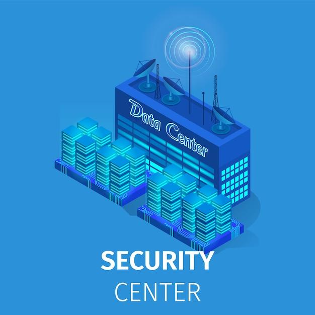 Sicherheitsdatencenter. energiestation abbildung Premium Vektoren