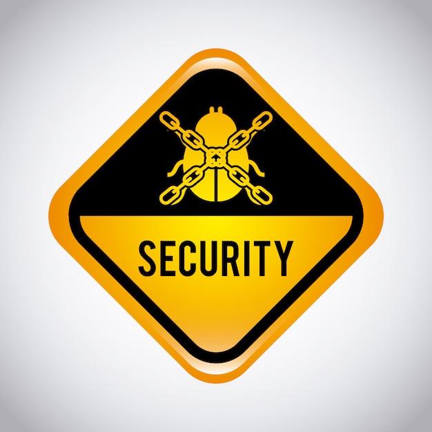 Sicherheitsgrafikdesign-vektor-illustration Kostenlosen Vektoren