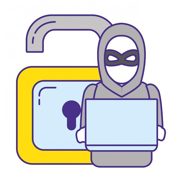 Sicherheitssystem cartoon Premium Vektoren