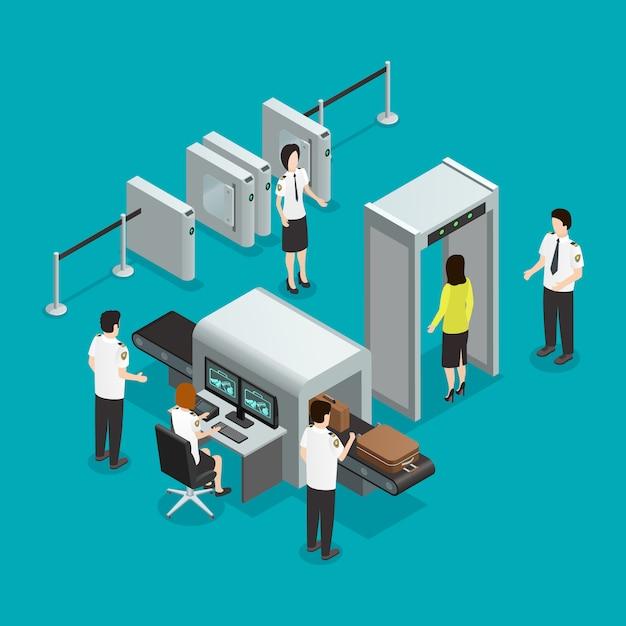 Sicherheitstore für flughäfen Kostenlosen Vektoren