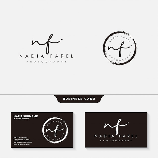 Signatur-logo oder visitenkartenvorlage Premium Vektoren
