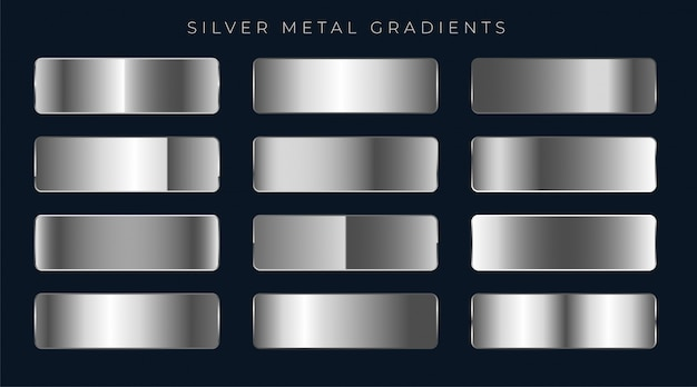 Silber- oder platingradienten eingestellt Kostenlosen Vektoren