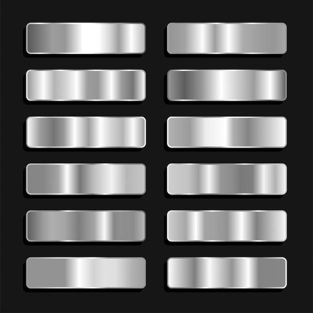Silber titan titan eisen farbpalette metallic gradient Premium Vektoren
