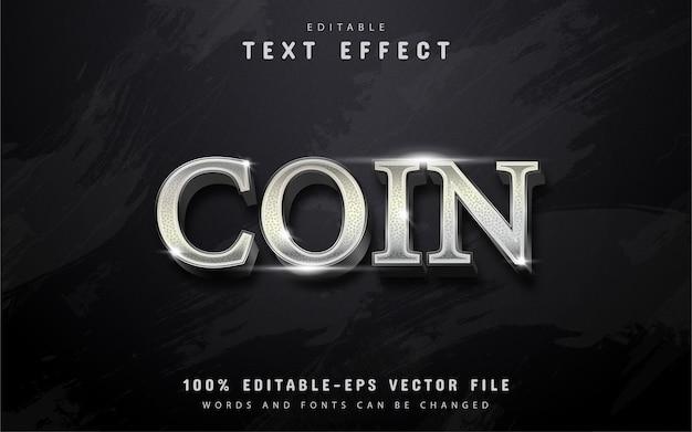 Silbermünzen-texteffekt Premium Vektoren