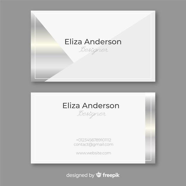 Silberne visitenkarte Kostenlosen Vektoren