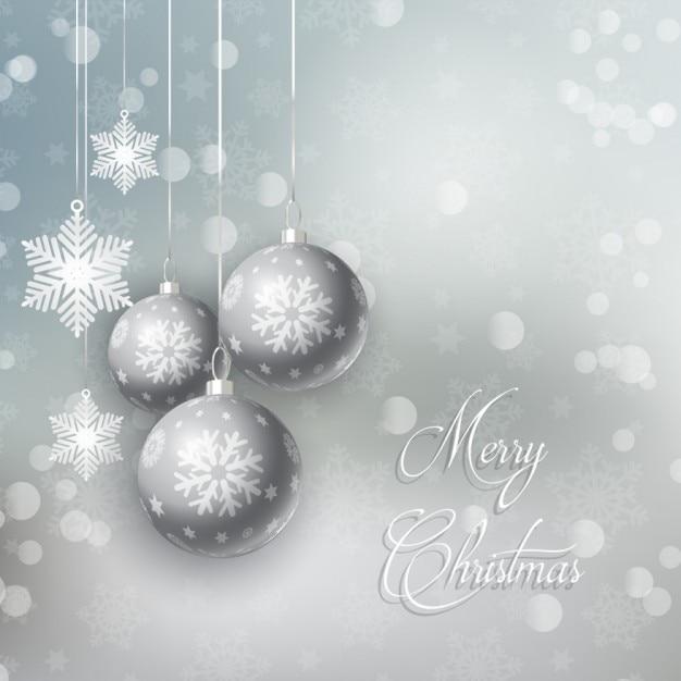 Silberne Weihnachtskugeln.Silberne Weihnachtskugeln Hintergrund Download Der