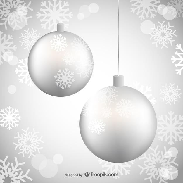 Silberne Weihnachtskugeln.Silberne Weihnachtskugeln Download Der Kostenlosen Vektor