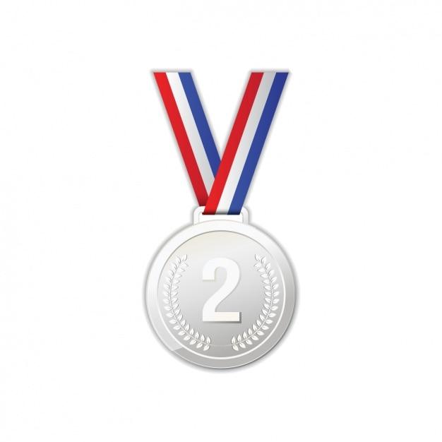 Silbernen medaille design Kostenlosen Vektoren