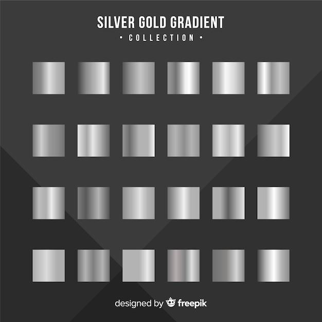 Silberner steigungssatz der metallischen beschaffenheit Kostenlosen Vektoren