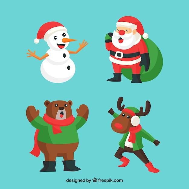 Singende Weihnachtsfiguren   Download der kostenlosen Vektor