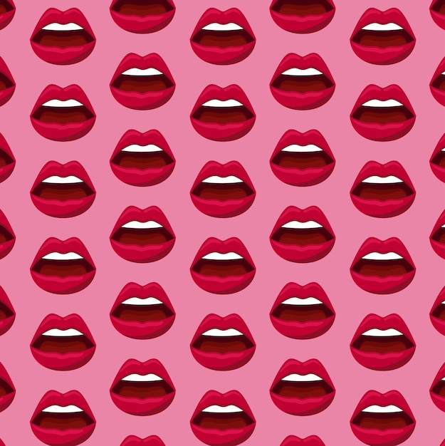 Sinnlichkeit weibliche lippen muster Kostenlosen Vektoren