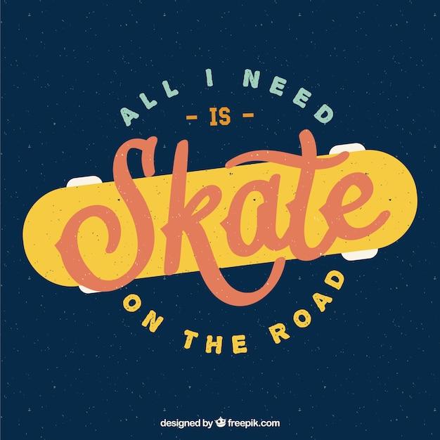 Skate abzeichen im retro-stil Kostenlosen Vektoren