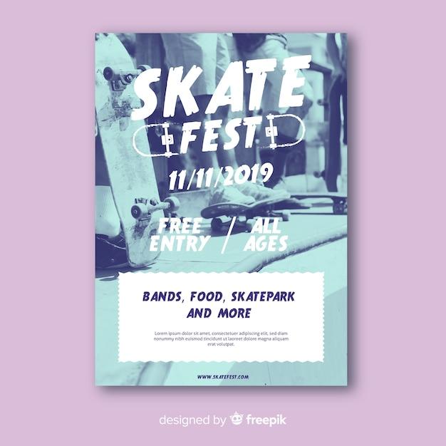 Skate fest sport plakat vorlage Kostenlosen Vektoren