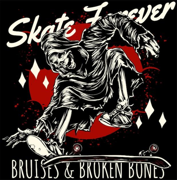 Skate für immer Premium Vektoren