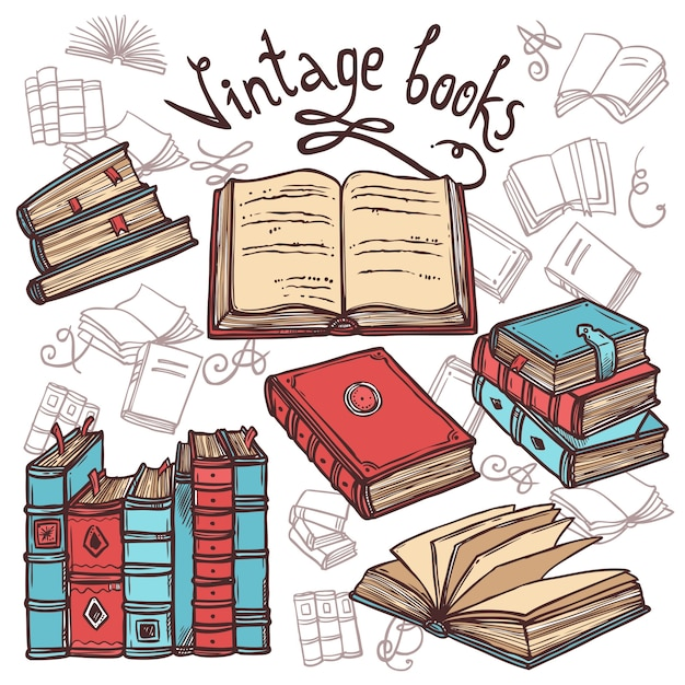 Skizzenbücher eingestellt Kostenlosen Vektoren