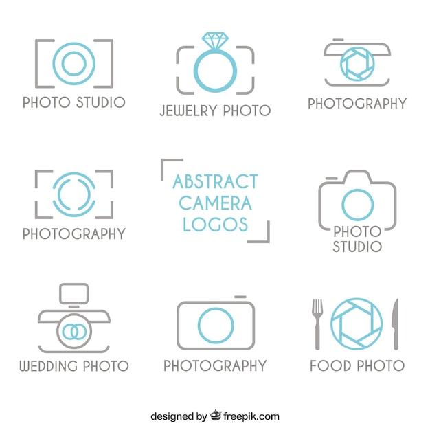 Skizziert photography logos Kostenlosen Vektoren