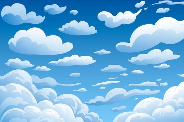 Sky - hintergrund für videokonferenzen Premium Vektoren