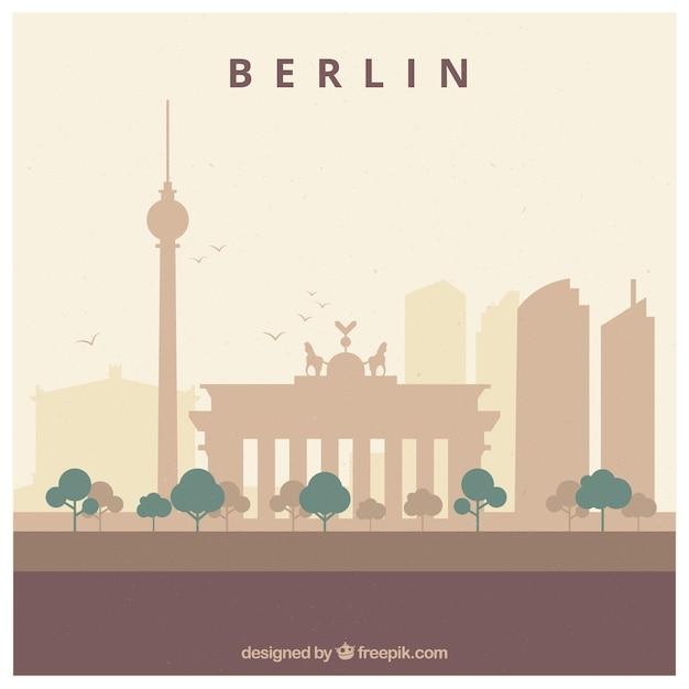 Skyline design von berlin Kostenlosen Vektoren