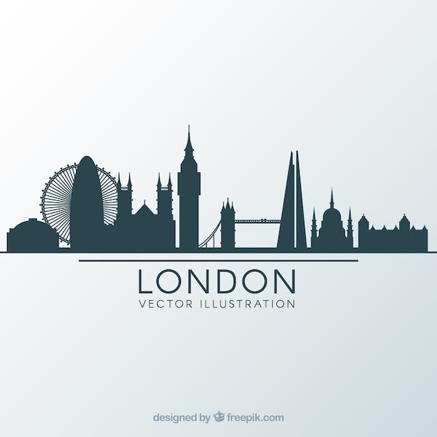 Skyline design von london Kostenlosen Vektoren