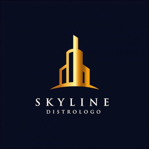 Skyline logo vorlage Premium Vektoren