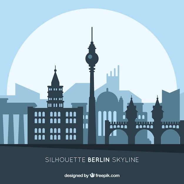 Skyline von berlin Kostenlosen Vektoren