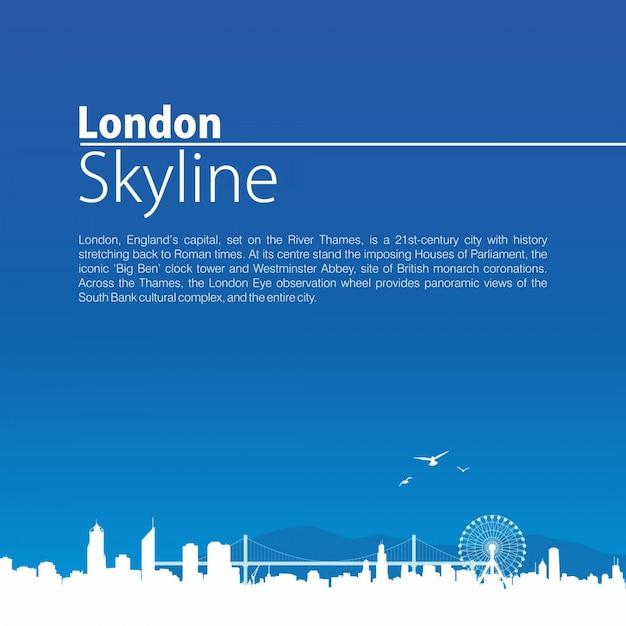 Skyline von london Premium Vektoren