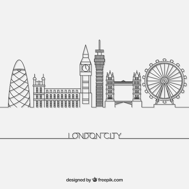 Skyline von london Kostenlosen Vektoren