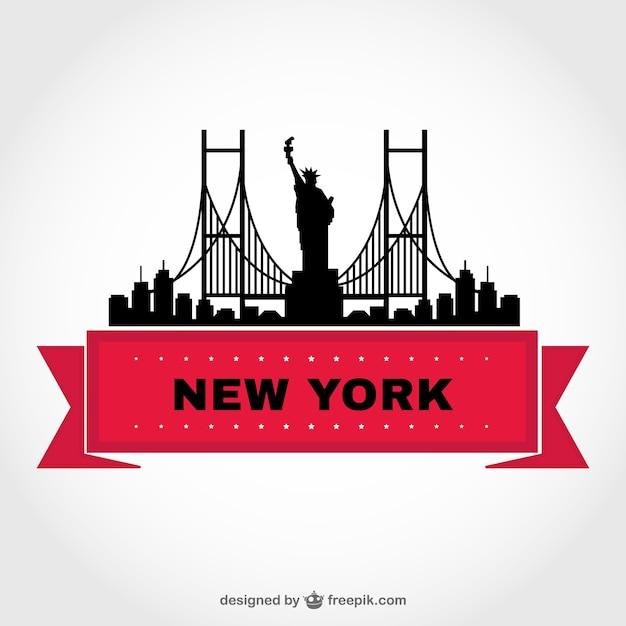 skyline von new york vektor vorlage download der kostenlosen vektor. Black Bedroom Furniture Sets. Home Design Ideas