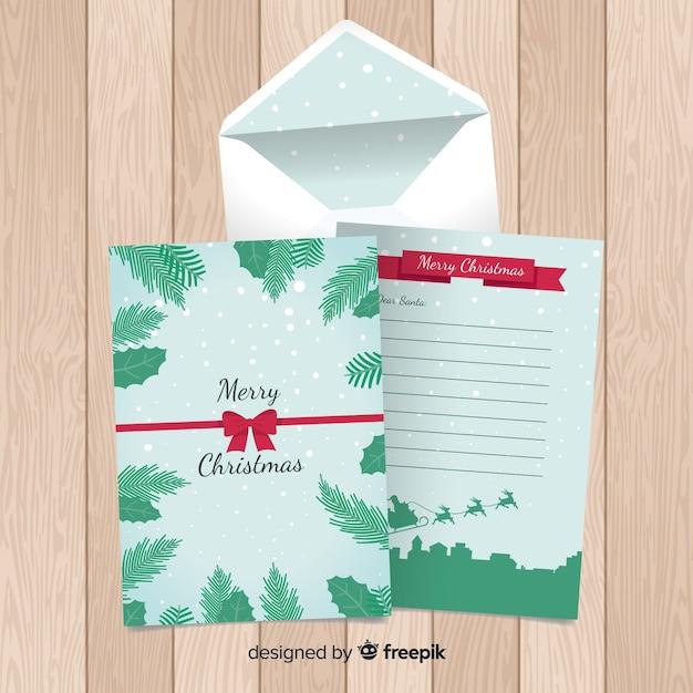 Sleigh Silhouette Weihnachten Briefvorlage Download Der