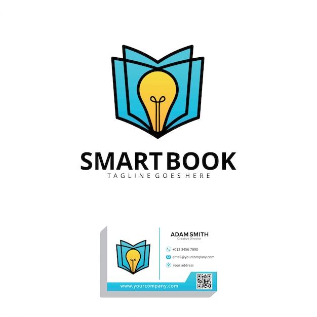 Smart book logo entwurfsvorlage Premium Vektoren