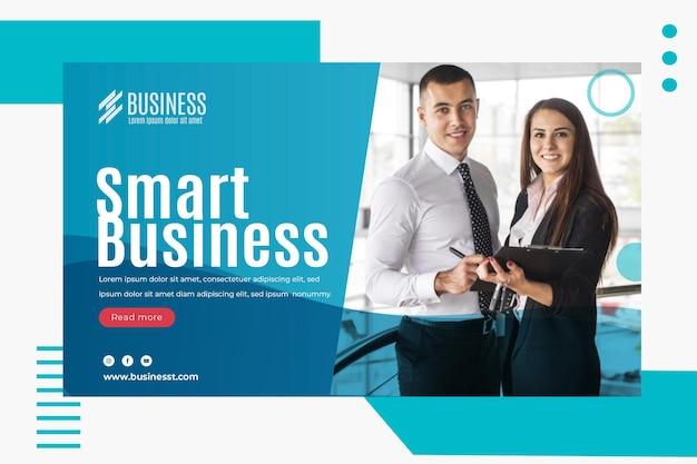 Smart business banner vorlage Kostenlosen Vektoren