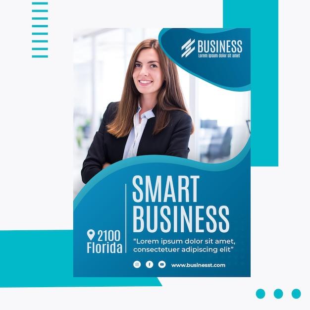 Smart business flyer vorlage Kostenlosen Vektoren