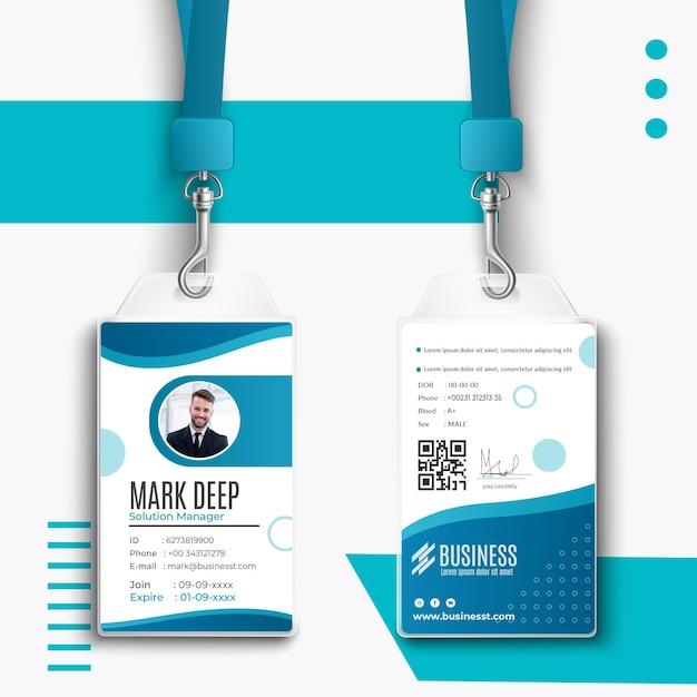 Smart business id card vorlage Kostenlosen Vektoren