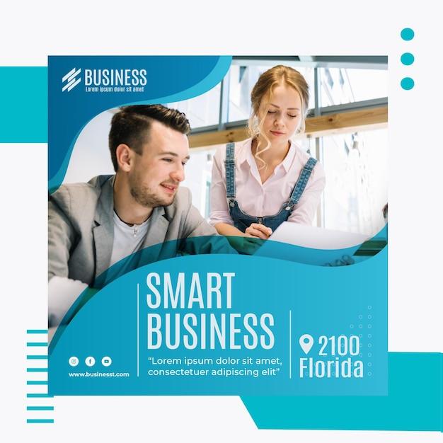 Smart business square flyer vorlage Kostenlosen Vektoren