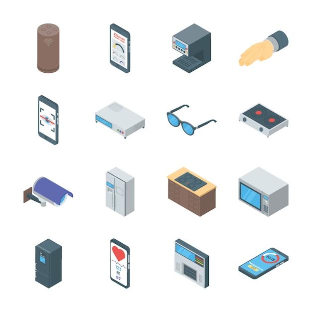 Smart gadgets vektoren icons Premium Vektoren