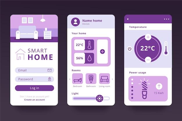 Smart home app Kostenlosen Vektoren