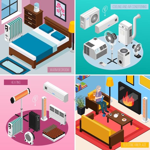 Smart home bannersammlung Kostenlosen Vektoren
