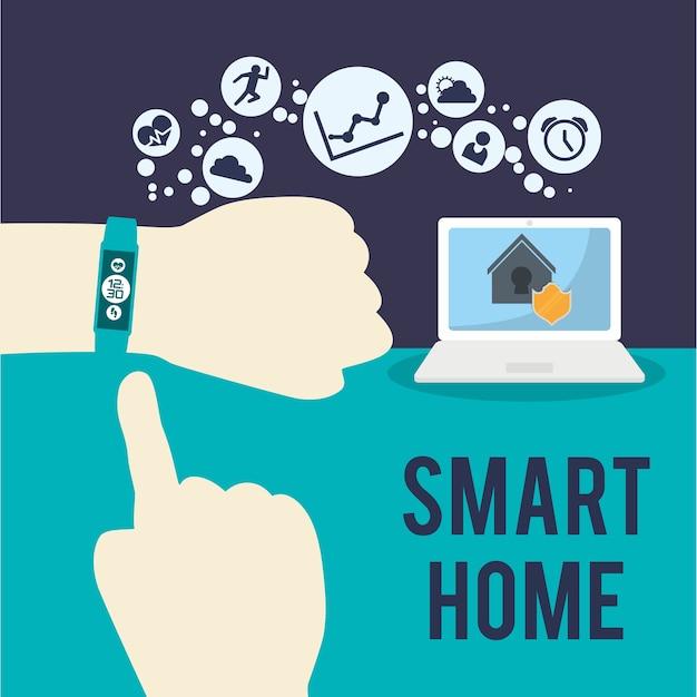 Smart home haus-icon-set Premium Vektoren