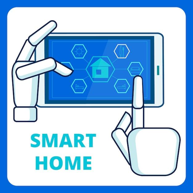 Smart home management app-vorlage Premium Vektoren