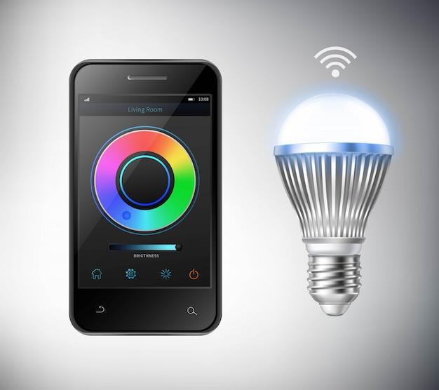Smart led glühbirne Kostenlosen Vektoren